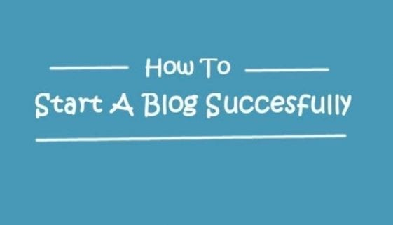 how to start a blog successfully
