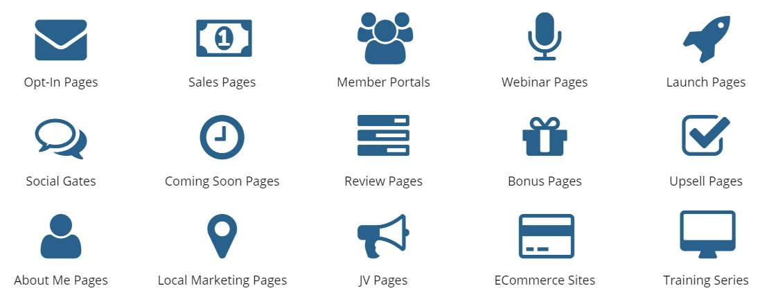 wp profit builder pages