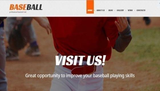 baseball wordpress theme featured image