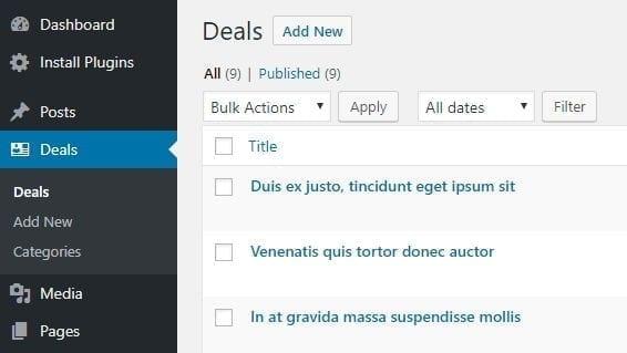 deals custom posts