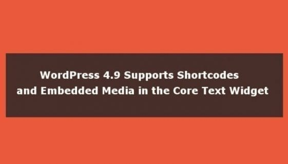wordpress shortcodes in text widget