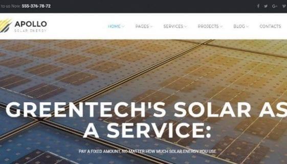 apollo solar energy company theme