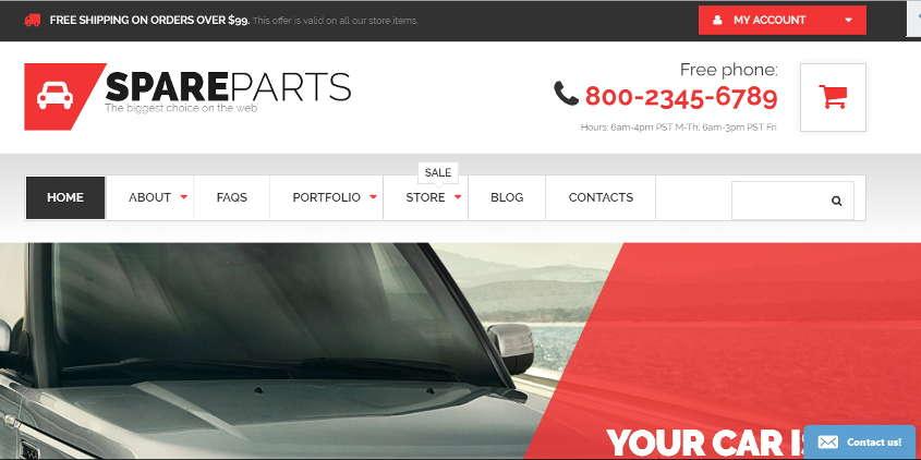 car parts store