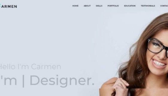 carmen creative wordpress theme