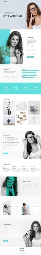 carmen creative portfolio wordpress theme
