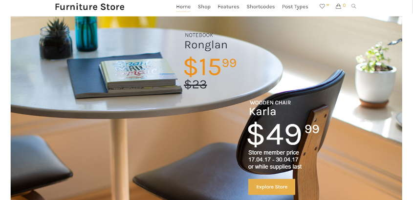 furniture store woocommere theme