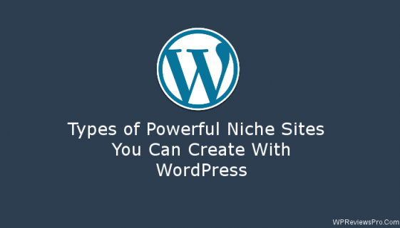 types of powerful niche sites you can create with wordpress
