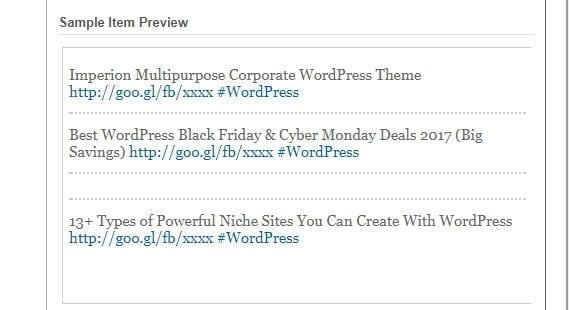 Google feedburner socialize sample item preview