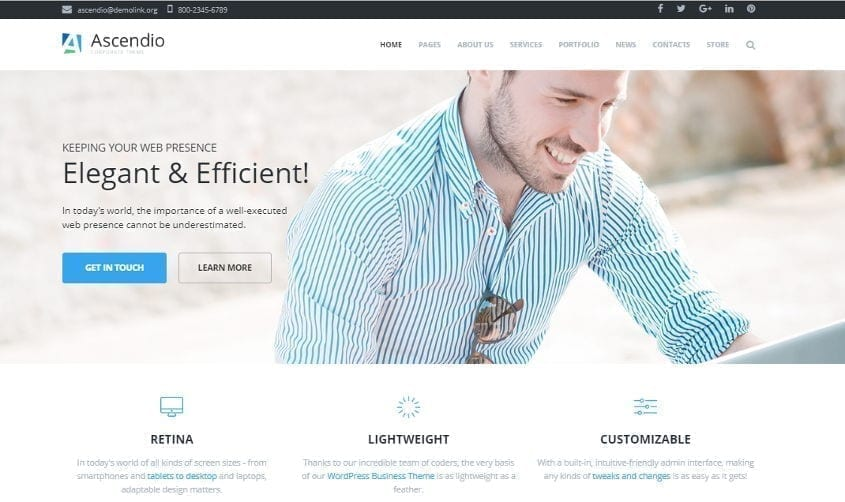ascendio wordpress theme