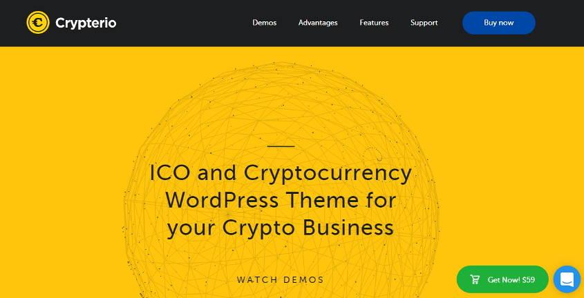 crypterio wordpress theme