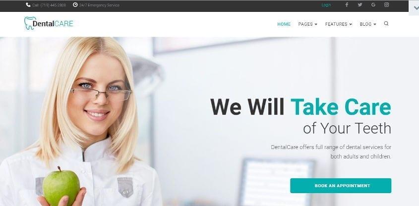 dentalcare wordpress theme