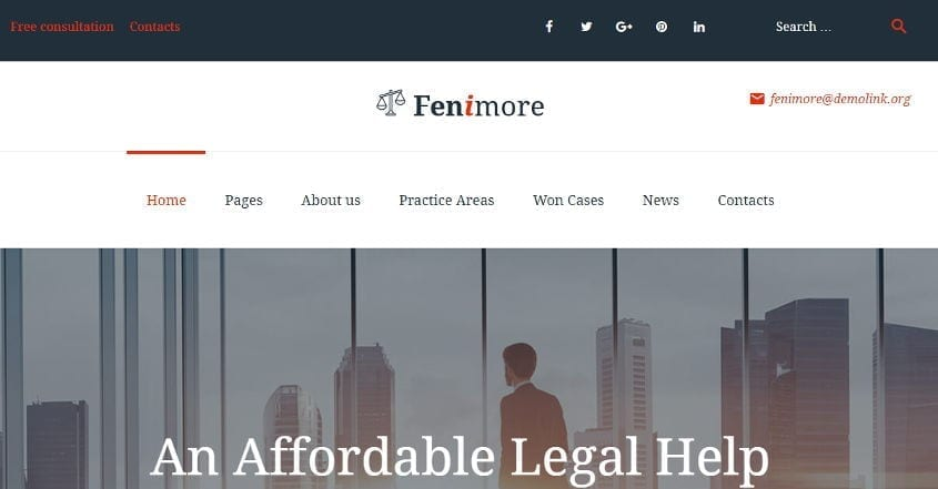 fenimore wordpress theme