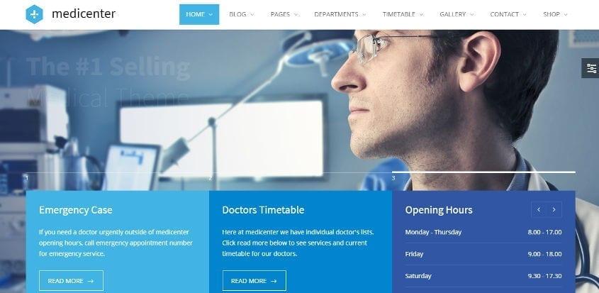 medicenter wordpress theme
