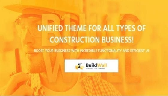 BuildWall Construction Company WordPress Theme