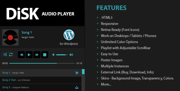 Disk Audio WordPress Plugin