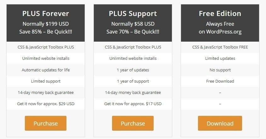 css javascript toolbox pricing