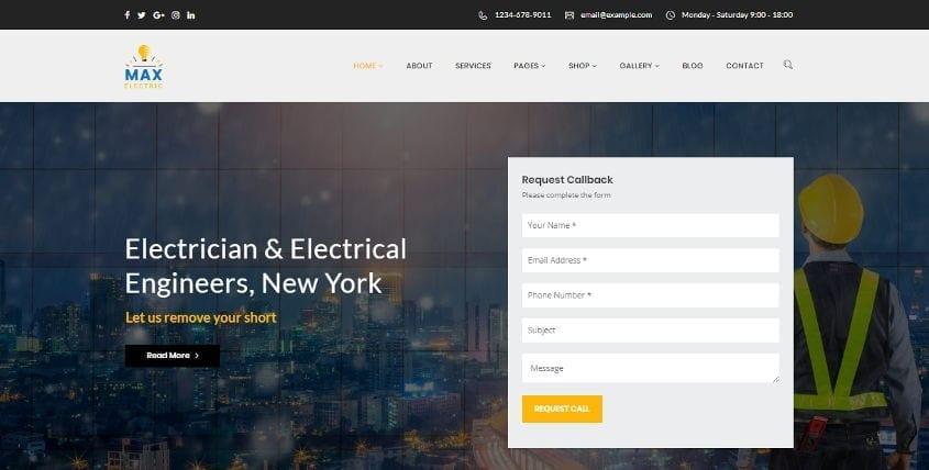 max electric wordpress theme