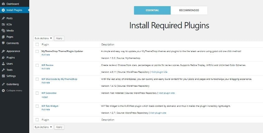mythemeshop crypto required plugins