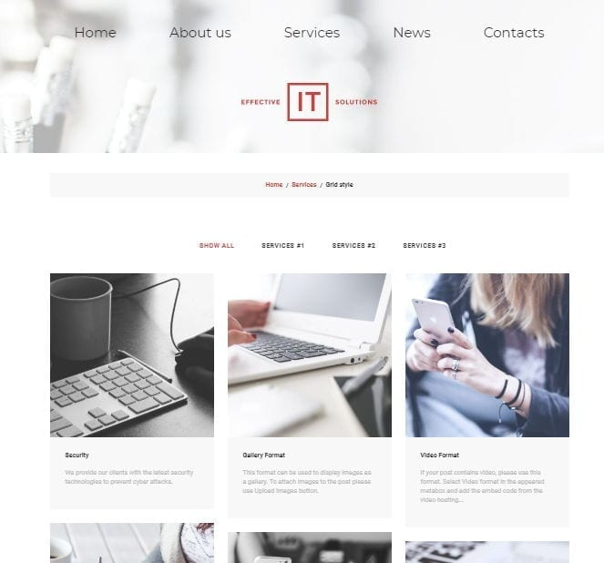 it solutions wordpress theme portfolio