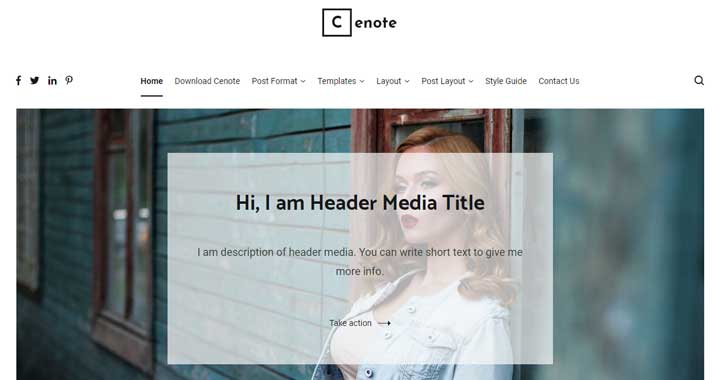 CenoteWordPress Free Theme