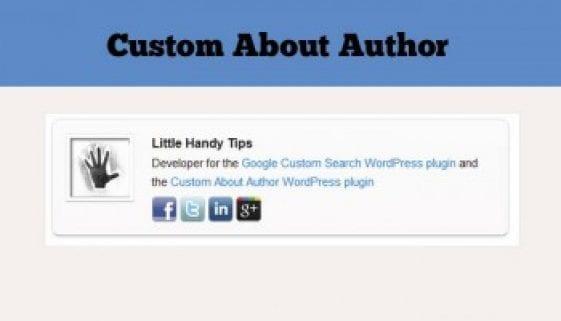 Custom Author Bio Plugins