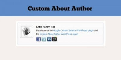 Custom Author Bio Plugins