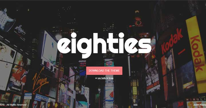 Eighties WordPress Free Theme