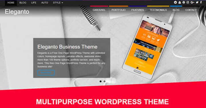 Eleganto Free WordPress Template