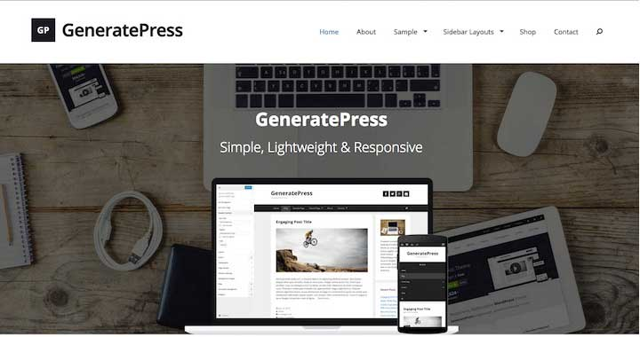 GeneratePress WordPress Free Theme