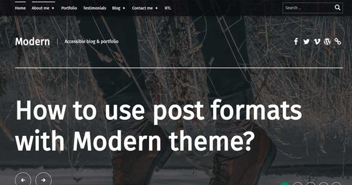 Modern Free WP Theme