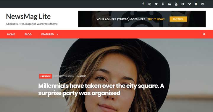 Newsmag Lite Free WordPress Theme