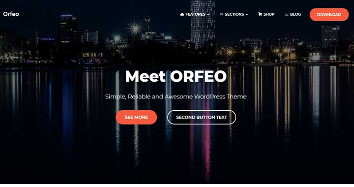 Orfeo Free WordPress Theme