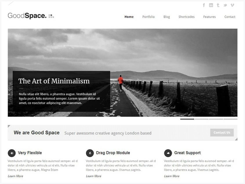 good-space-responsive-minimal-wp-theme