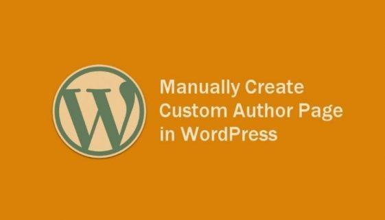 manually create custom author page