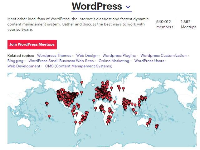 wordpress meetups