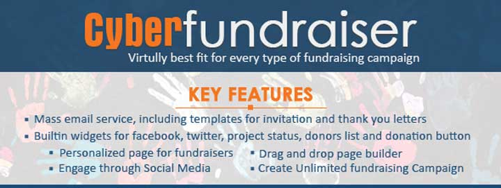Cyber Fundraiser plugin for WordPress