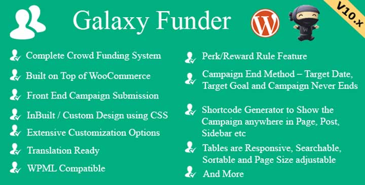 Galaxy Funder for WordPress
