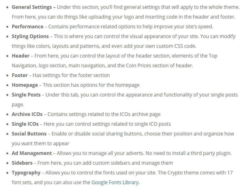 crypto theme options