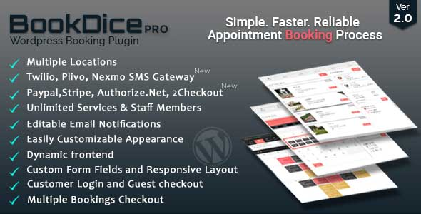 BookDice WordPress Appointment Plugin