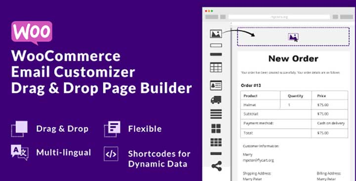 WooCommerce Email Customizer with Email Builder