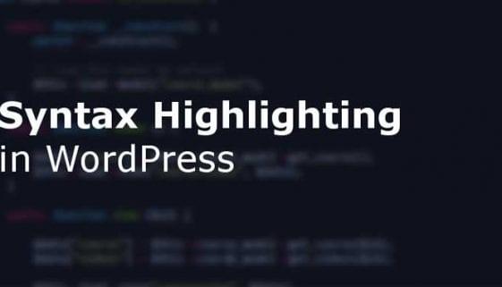 WordPress Syntax Highlighter Plugins