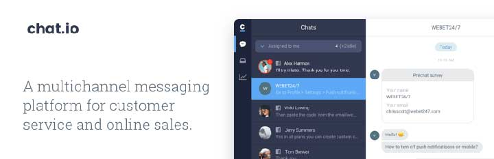 Chat.io live chat WP plugin