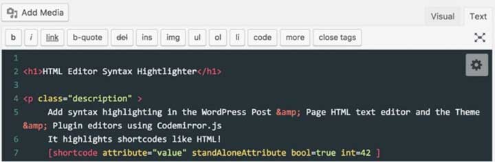 Enlighter – Customizable Syntax Highlighter