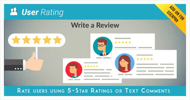 User Rating / Review Add-on for UserPro