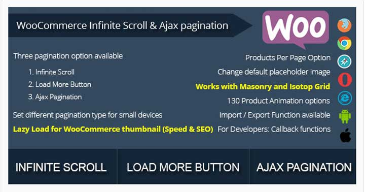 WooCommerce Infinite Scroll and Ajax