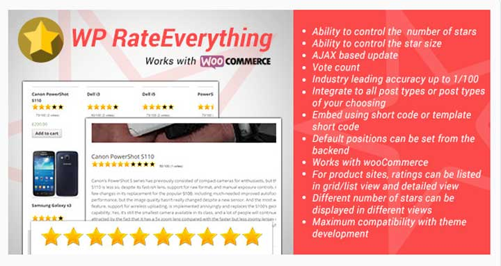 WP Rate Everything Star Plugin