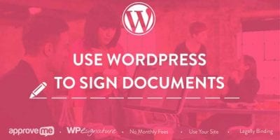 WordPress Signature Plugins