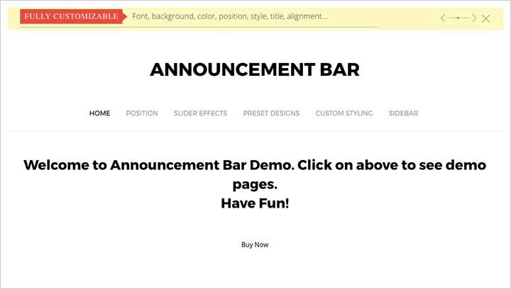 Announcement Bar Plugin