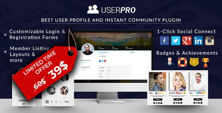 UserPro WordPress Social Login Plugin