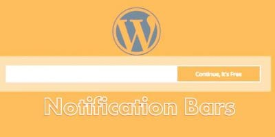 WordPress Notification Bar Plugin